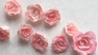 Botões De Rosas Feitos Com Massinha, Fica Super Realista!