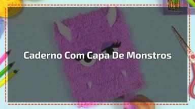 Caderno Com Capa De Monstrinhos, Super Fácil De Fazer E Fica Muito Fofo!