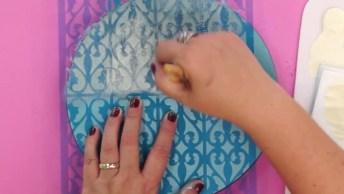 Caixa Decorada Redonda, Um Artesanato Super Sofisticado!
