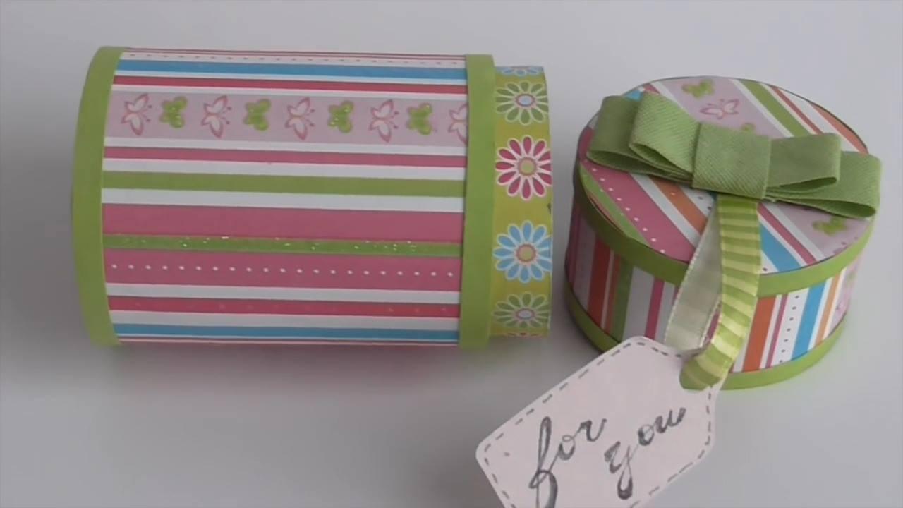 Caixa feita com rolinhos de papel higiênico