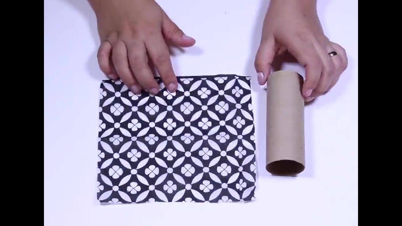 Caixinhas de presente feitas com rolinho de papel higiênico
