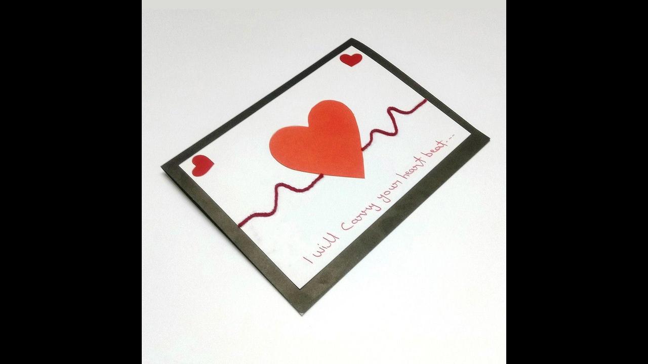 Cartão com coração, uma lembrancinha para o dia das mães
