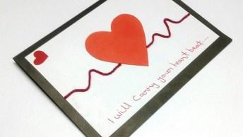Cartão Com Coração, Uma Lembrancinha Para O Dia Das Mães!
