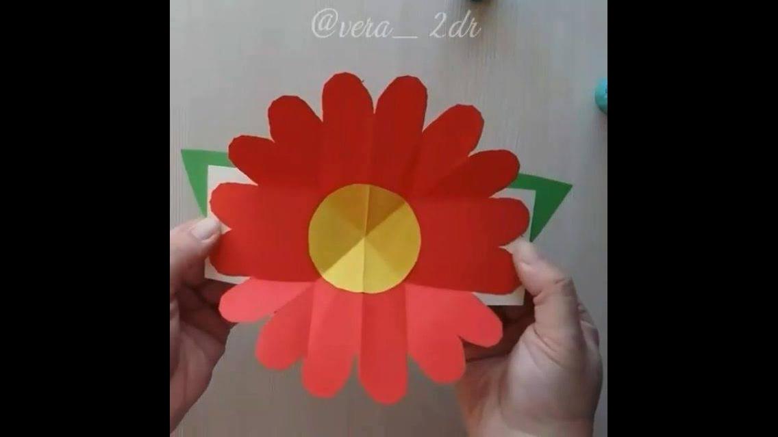 Cartão de flor para o dia das mães