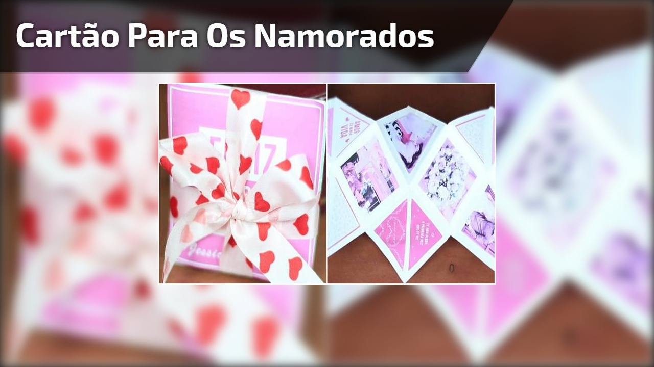 Cartão para os namorados