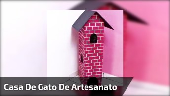 Casa De Gato De Artesanato, Que Resultado Incrível, Confira!