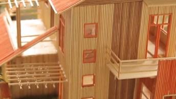 Casa Em Miniatura De Madeira, Olha Só Que Trabalho Incrível!
