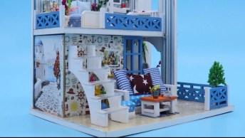 Casa Em Miniatura Feita Artesanalmente, Ela Ficou Muito Linda!