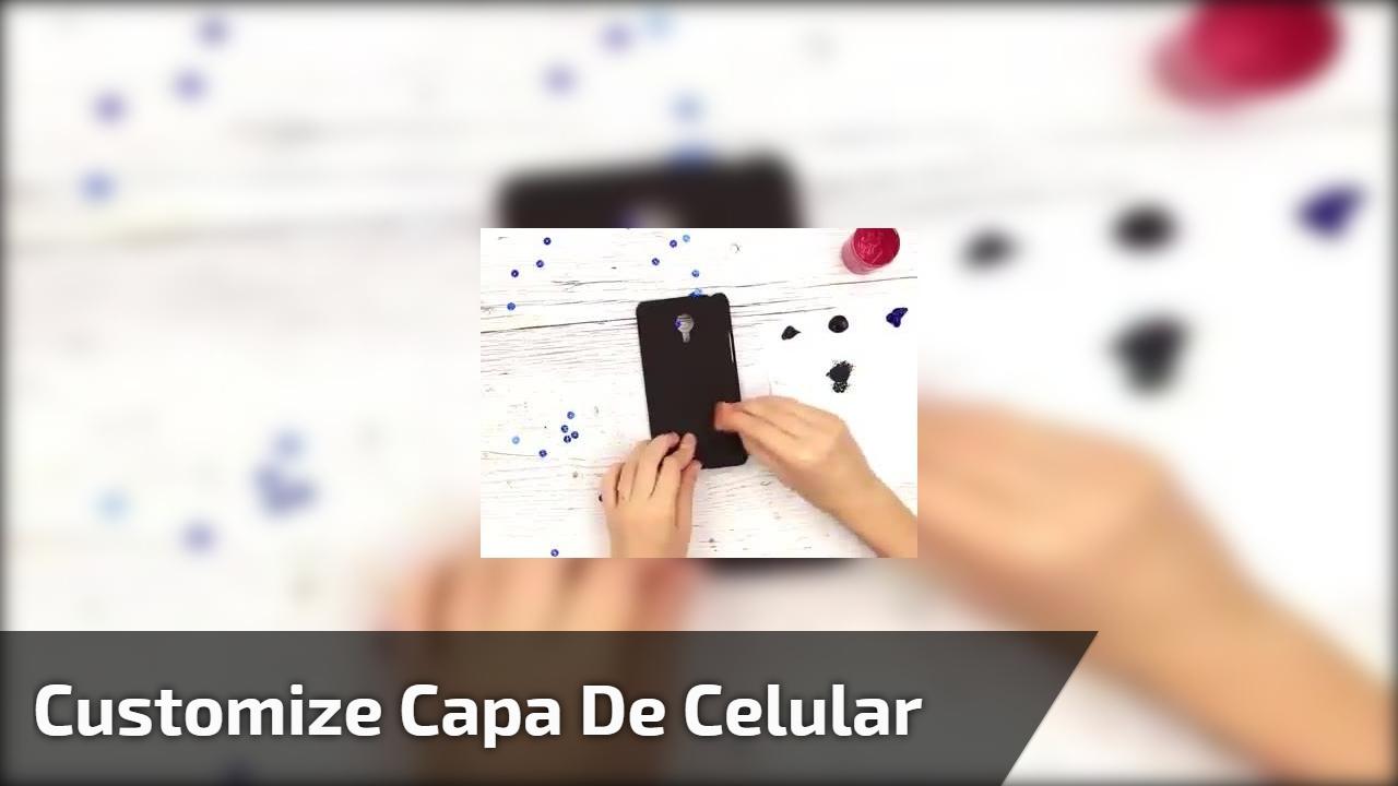 Customize capa de celular