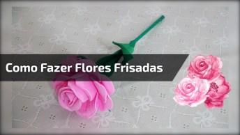 Como Fazer Flores Frisadinha, Uma Ideia De Artesanato Muito Legal!