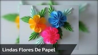 Como Fazer Lindas Flores De Papel, Super Fácil E O Resultado É Fantástico!