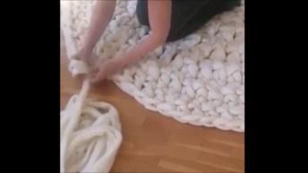 Como Fazer Tapete De Crochê Com As Mãos, Muito Legal Essa Técnica!