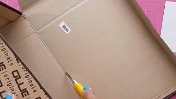 Como Fazer Um Bloquinho De Papel Com Capa De Papelão E Caixa Para Guardá-Lo!