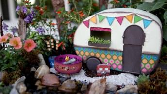 Como Fazer Um Mini Camping Para Enfeitar Seu Jardim, Confira!