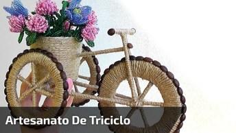 Como Fazer Um Triciclo De Enfeite Com Materiais Simples, Confira!