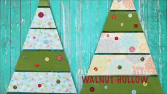 Como Fazer Uma Árvore De Natal Com Paletes E Botões, Recicle E Ajude O Planeta!