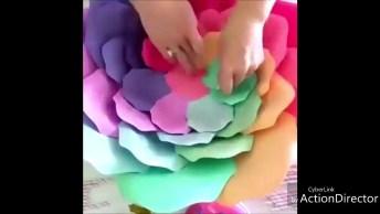 Como Fazer Uma Flor Grande De Artesanato? Aqui Neste Vídeo Você Vai Aprender!