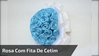 Como Fazer Uma Rosa Com Fita De Cetim, Um Vídeo De Artesanato Bem Fácil!