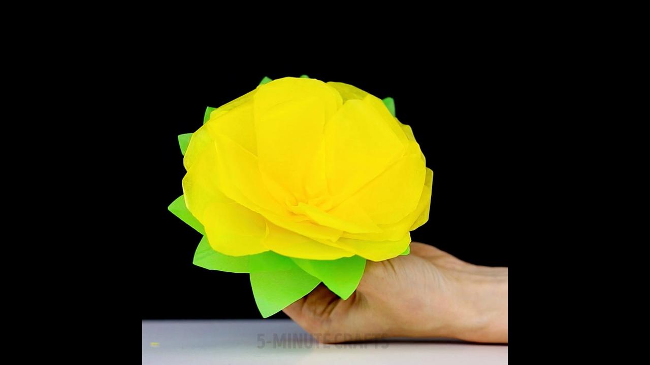 Como Fazes Flor com Papel de Seda