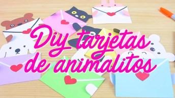 Cono Fazer Um Cartão De Animais Para Dar Para Alguém? Muito Fofo!