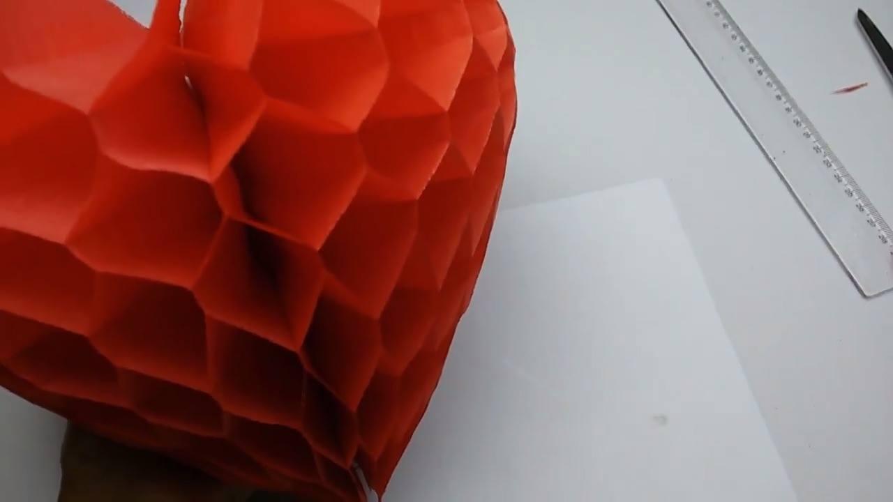 Coração de papel de seda
