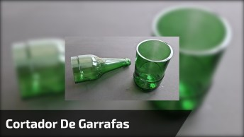 Cortar As Garrafas De Vidros Agora Ficou Fácil, Aprenda A Fazer Este Cortador!