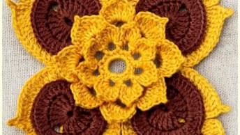 Crochês Para Encantar, Compartilhe Com As Artesãs De Seu Facebook!