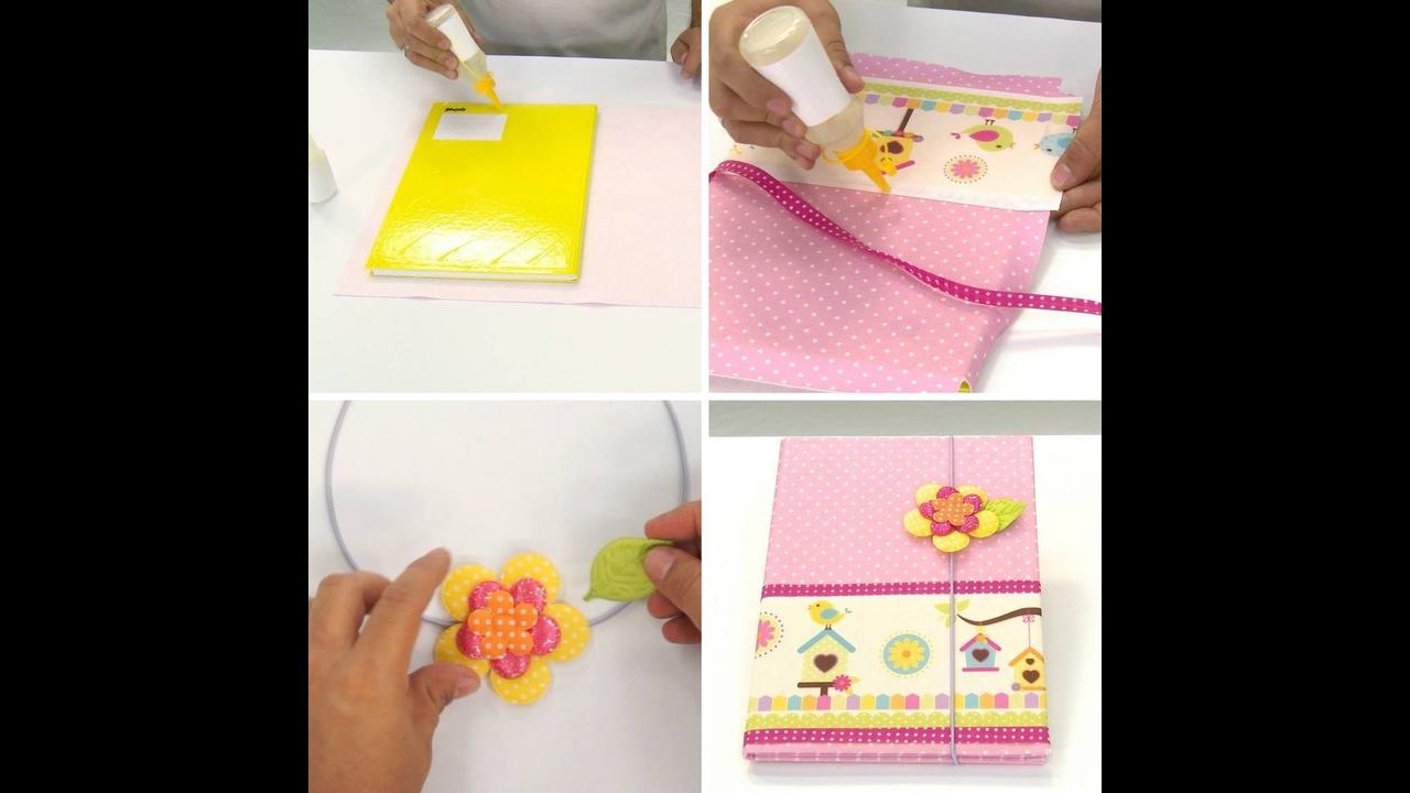 Customizando caderno para a volta às aulas