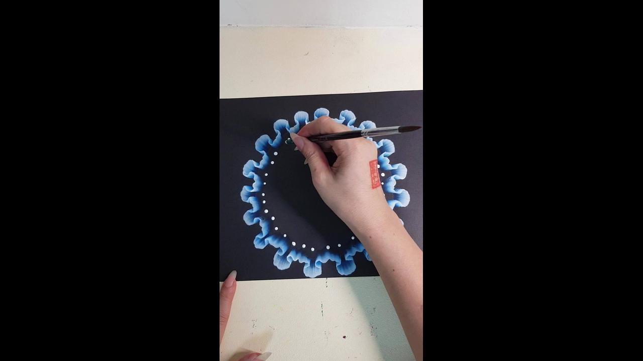 Desenho em papel preto, um artesanato em forma de obra de arte