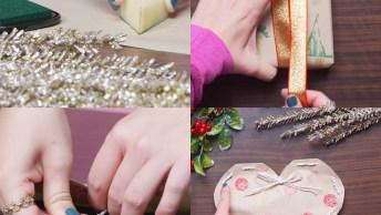 Embrulho Para Presente De Natal, Feitos De Forma Criativa E Diferente!