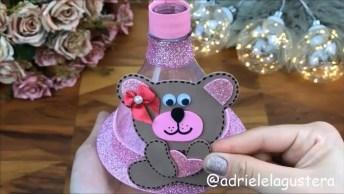 Enfeite De Mesa Com Balões Para Festa Infantis, Feito Com Garrafa Pet!