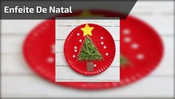Enfeite De Natal Feito Com Prato De Papelão, Lã, Tinta E Muita Criatividade!