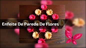 Enfeite De Parede De Flores De Papel Das Cores Vermelhas E Amarelas!