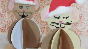 Enfeites De Papelão Para O Natal, O Resultado É Muito Lindo!