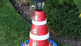 Enfeito Com Luz Para Jardim, Combina Principalmente Com O Natal!