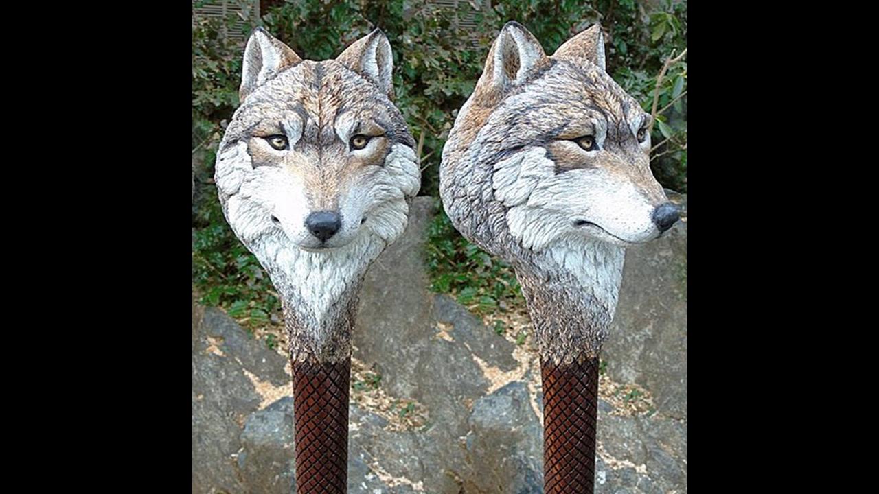 Esculturas de animais feitas a mão