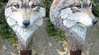 Esculturas De Animais Feitas A Mão, O Resultado É Uma Obra De Arte!
