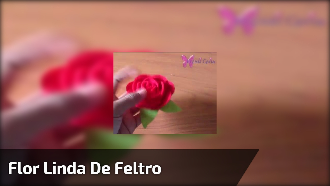 Flor linda de feltro