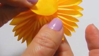 Flor De Cetim Diferente, Mais Uma Que Irá Te Surpreender Com O Resultado!