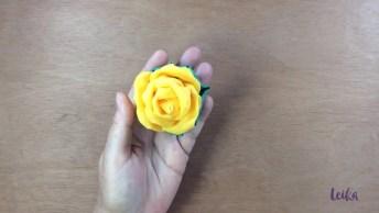 Flor De Fuxico - Passo A Passo Para Você Aprender E Compartilhar!