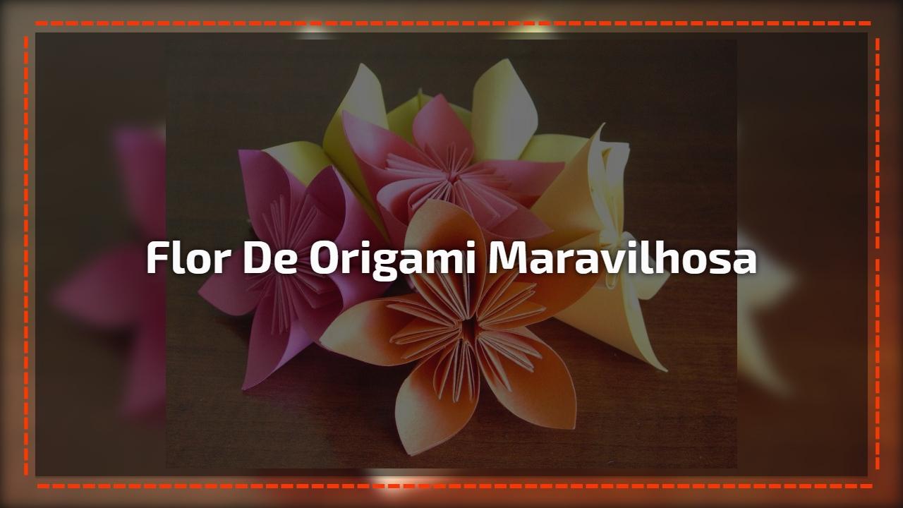 Flor de origami maravilhosa