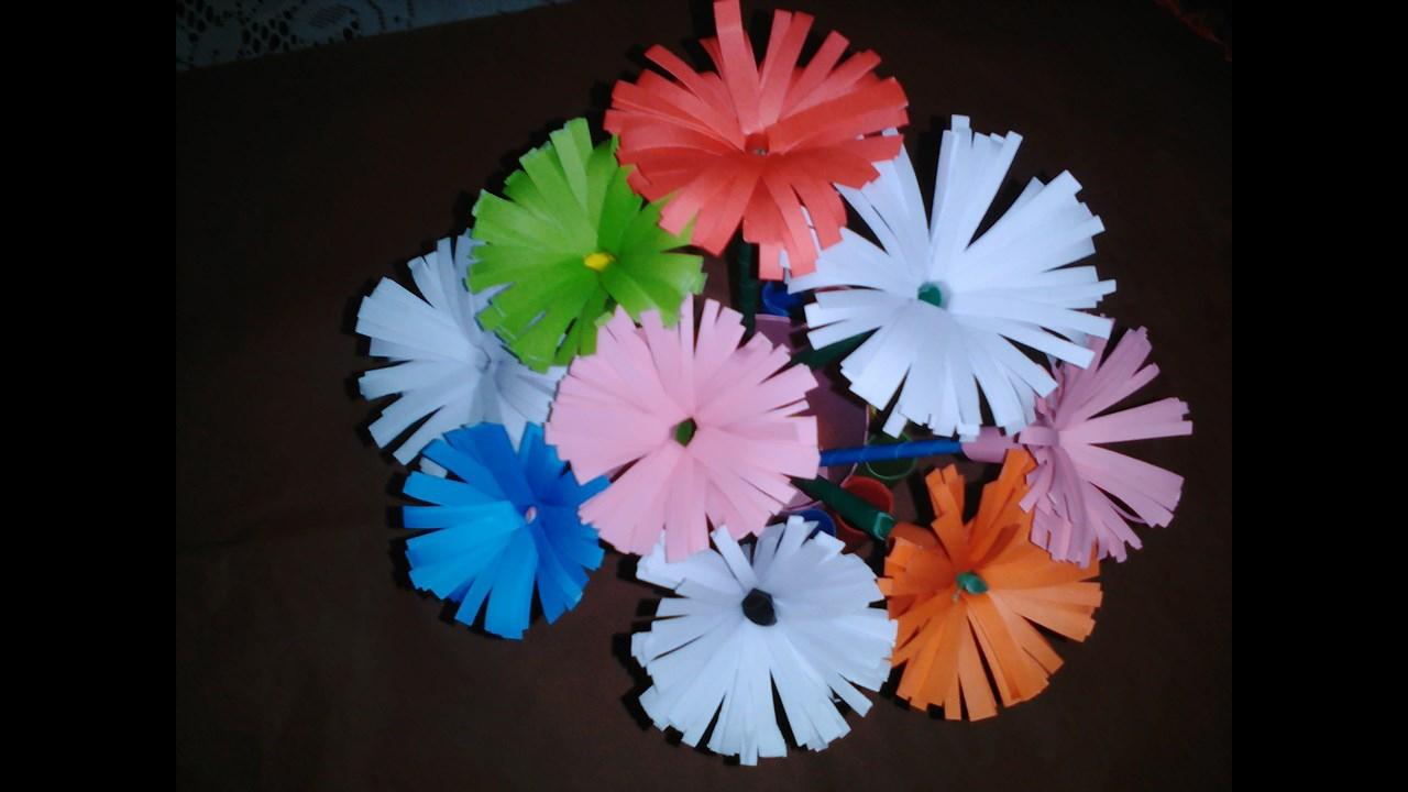Flor de papel simples de artesanato