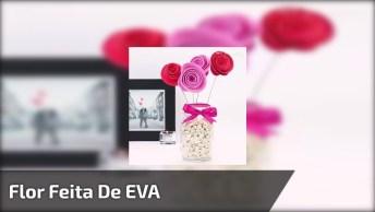 Flor Feita De Eva Em Vasinho Com Pedras, Veja Que Charme Este Tutorial!