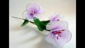 Flores Com Nylon, Ficam Lindas E Deixam Qualquer Lugar Bonito!