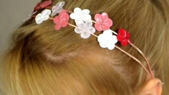 Flores De Arames E Esmalte, Perfeitas Para Fazer Presilhas De Cabelo!