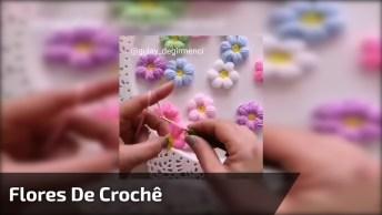 Flores De Crochê Coloridas Para Decorar, Veja Como São Delicadas!