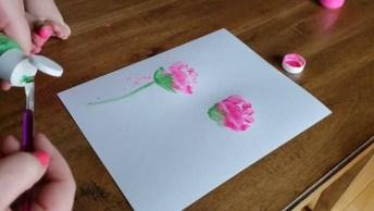 Flores De Dedinhos De Bebê, Eles Adoram Este Trabalho Artesanal!