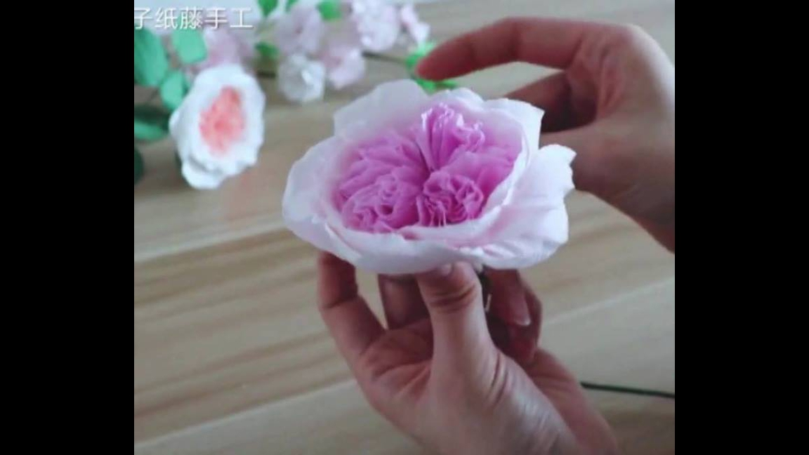 Flores de papel crepom lindas