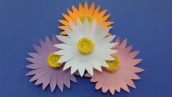 Flores De Papel Para Arranjo, Elas Ficam Lindas, Confira Como Fazer!