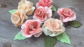 Flores De Tecidos Para Decorar Sua Casa, Passo A Passo Bem Simples!